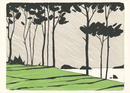 Lithographie Avril - Betagne - Vert