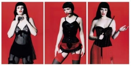 Photographie Lagrange - Betty Page Trilogy (triptych)