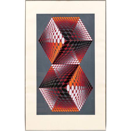 Sérigraphie Vasarely - Bi - tupa