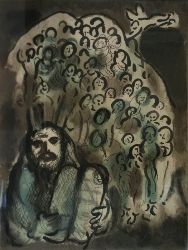 Lithographie Chagall - Biblical Mesage