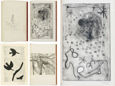 Livre Illustré Miró - Bibliographie des œuvres de René Char (PAB 1964) Gravures signées de Giacometti, Miro, Braque, Da Silva, etc.