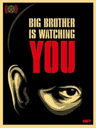 Sérigraphie Fairey - Big Brother is Watching You