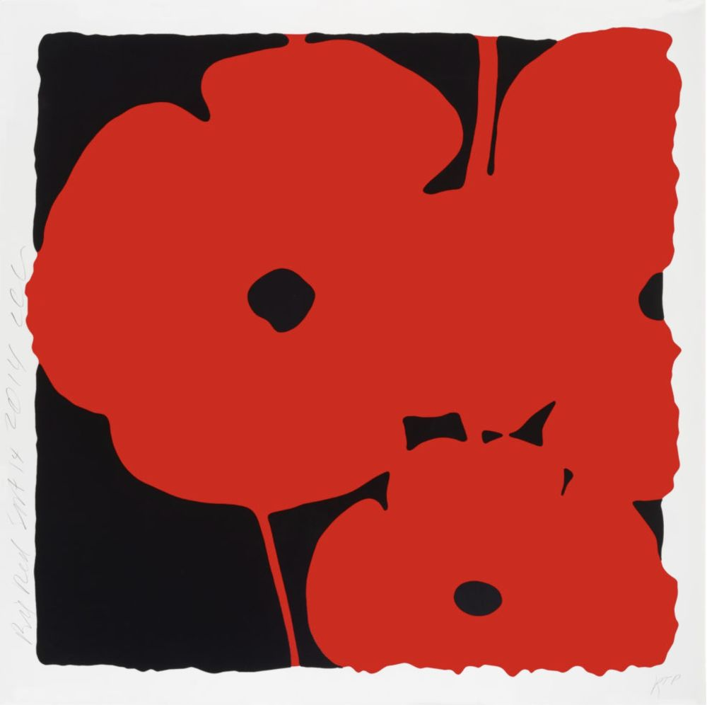 Sérigraphie Sultan - Big Poppies