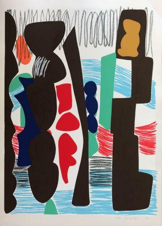 Sérigraphie Jaffe - Big Square with Crayon