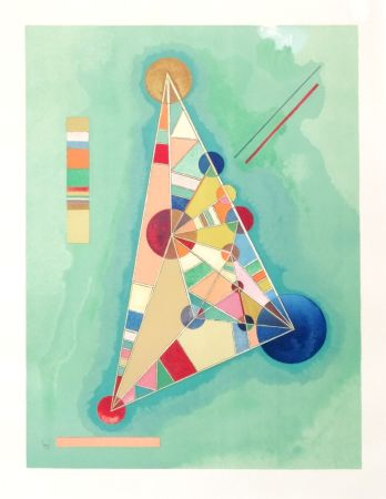 Lithographie Kandinsky - Bigarrure dans le triangle
