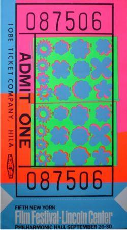 Sérigraphie Warhol - Biglietto Lincoln Center (FS II.19)