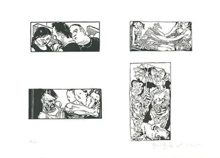 Linogravure Grützke - Bilder aus Bongs Stall