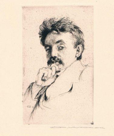 Gravure Winkler - Bildnis Dr. Z (Portrait Of Dr. Z)