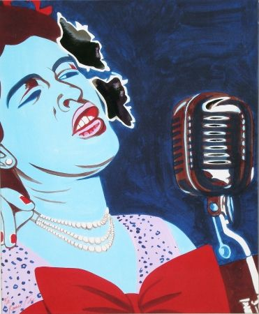 Sérigraphie Rancillac - Billie Holiday
