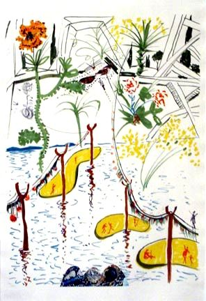 Lithographie Dali - Biological Garden