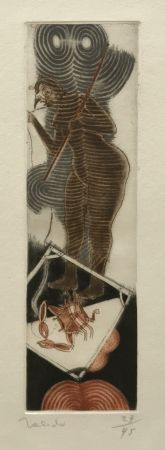 Gravure Toledo - Bird Woman with Crab