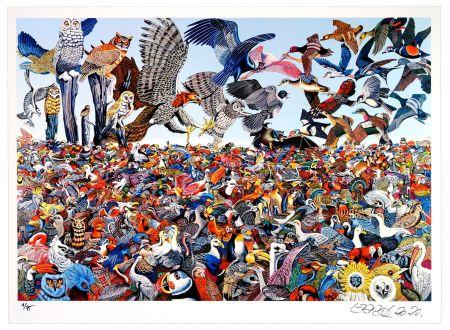 Estampe Numérique Erro - Birdlandscape