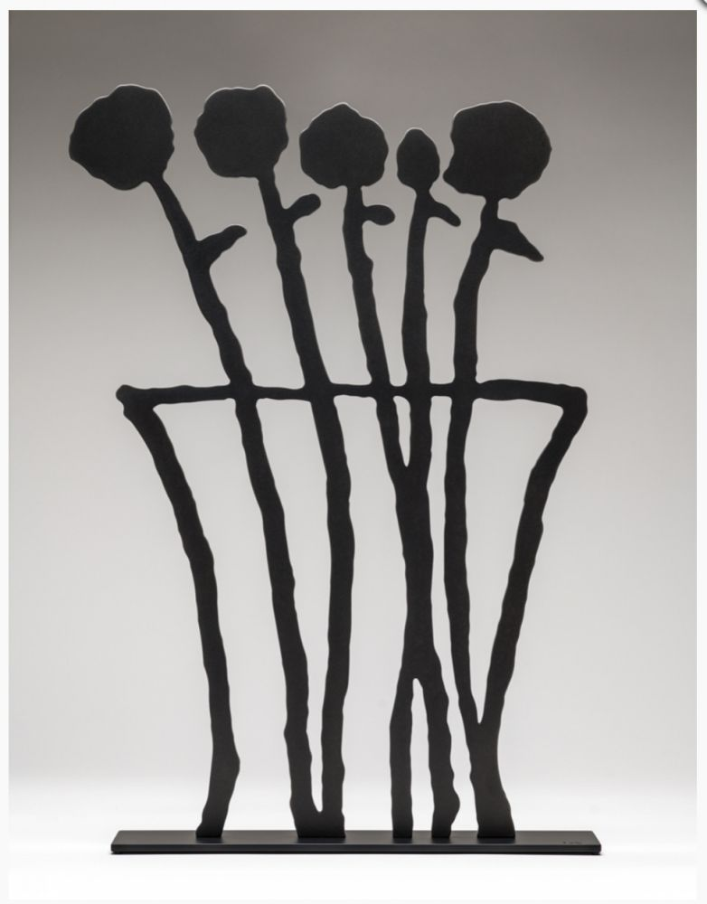 Aucune Technique Baechler - Black Flowers Sculpture
