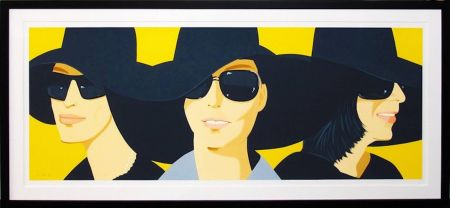 Sérigraphie Katz - Black Hats 4