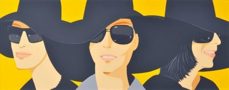 Sérigraphie Katz - Black Hats IV