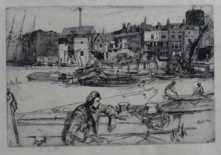 Gravure Whistler - Black Lion Wharf