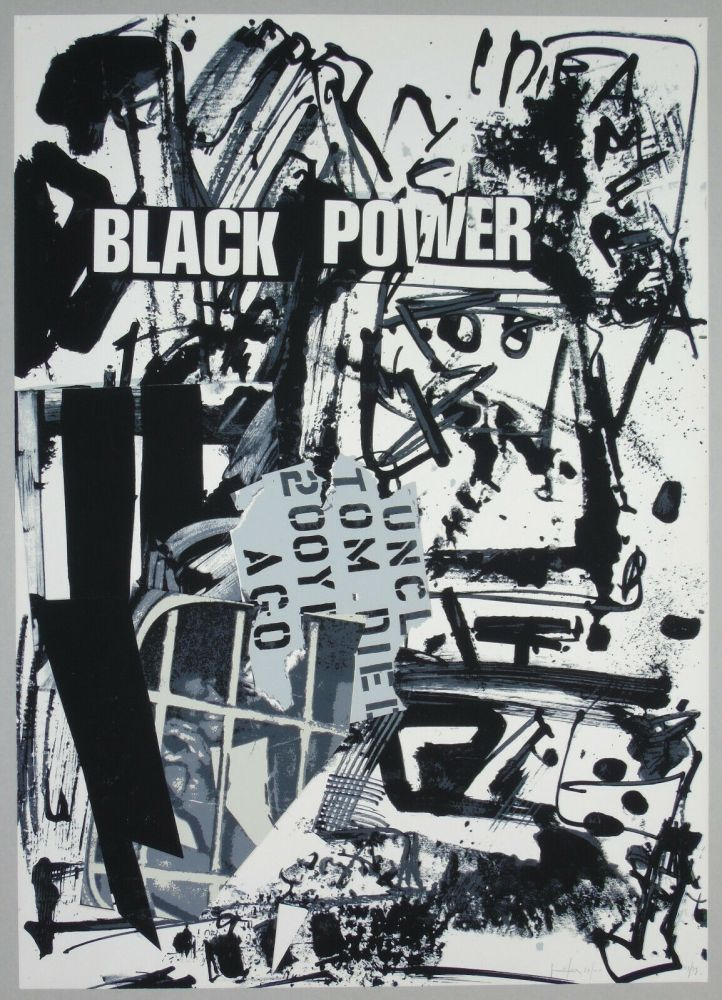 Lithographie Vedova - Black power