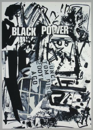 Lithographie Vedova - Black power