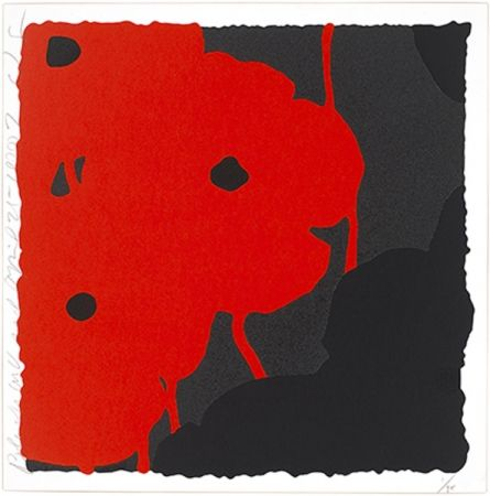 Sérigraphie Sultan - Black & Red Poppies