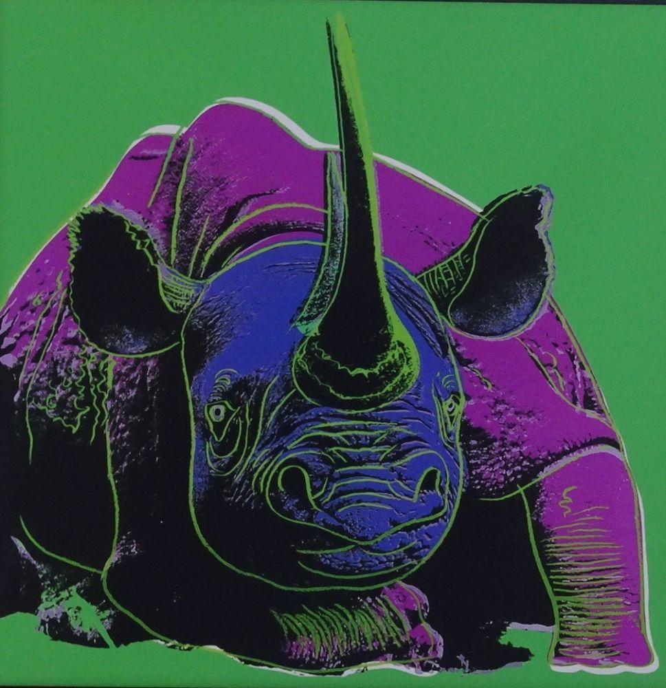 Sérigraphie Warhol - Black rhinoceros