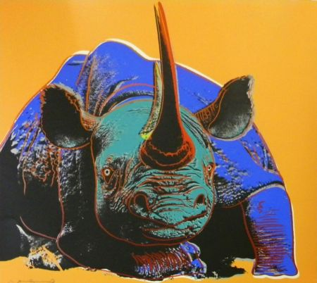 Sérigraphie Warhol - Black Rhinoceros (FS II.301)