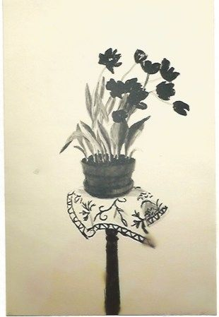 Lithographie Hockney - Black Tulips