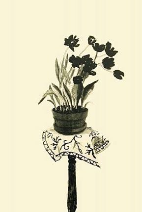 Lithographie Hockney - Black Tulips (1980)
