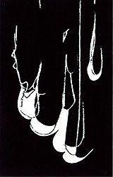 Lithographie Blais - Blanc sur noir 1