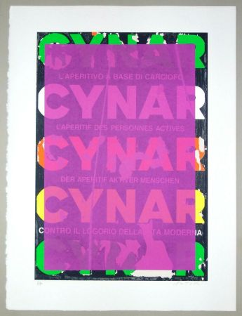 Sérigraphie Rotella - Blank Cynar (fucsia)