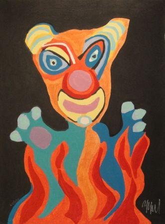 Gravure Sur Bois Appel - Blatt der Folge Circus / Cirque, Soleil du Monde