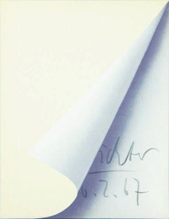Lithographie Richter - Blattecke (Cantz 11)