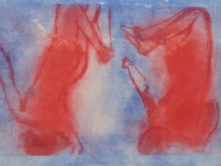 Lithographie Garache - Bleue 1V