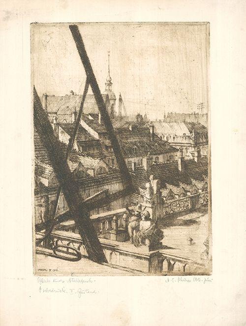 Eau-Forte Philipp - Blick durchs Atelierfenster