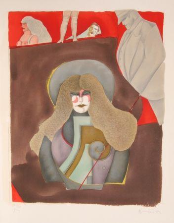 Lithographie Lindner - Blondie