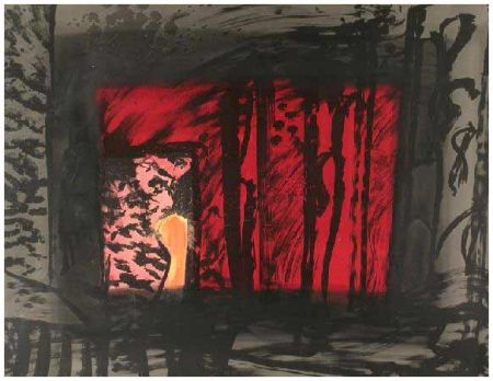 Lithographie Hodgkin - Blood, 1983