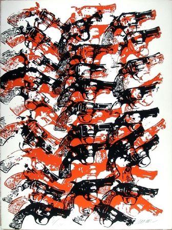 Sérigraphie Arman - Bloody Guns