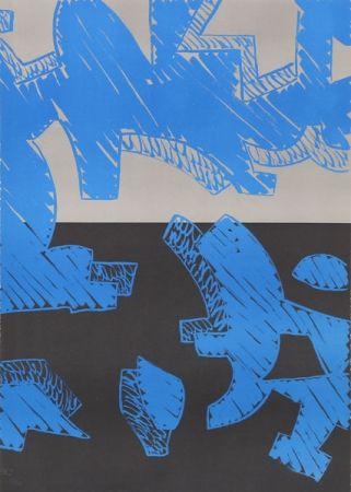 Lithographie Accardi - Blu