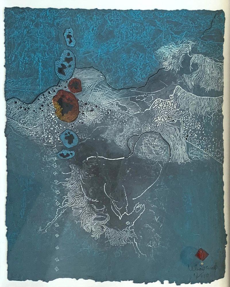 Eau-Forte Et Aquatinte Lebadang - Blue Abstract
