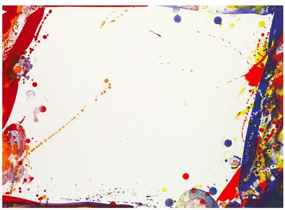 Lithographie Francis - Blue Cut Sail