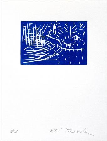 Linogravure Kuroda - Blue Night