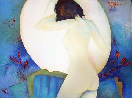 Lithographie Gaveau - Blue Nude III