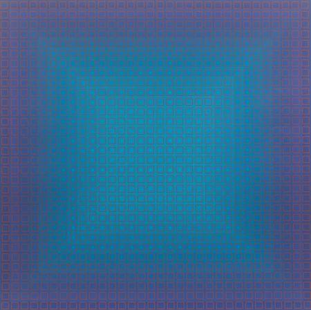 Sérigraphie Stanczak - Blue Orange, from Filtration Series