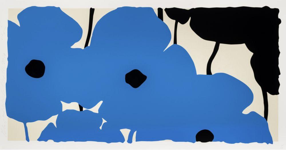 Sérigraphie Sultan - Blue Poppies