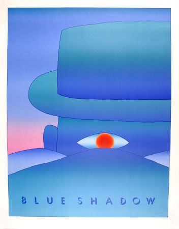 Affiche Folon - Blue Shadow (L'Aube, 1972)