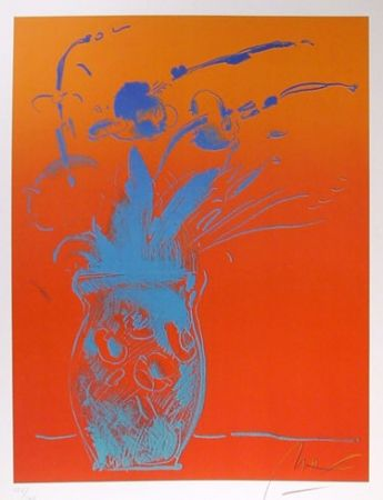 Lithographie Max - Blue Vase