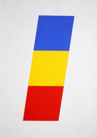 Lithographie Kelly - Blue Yellow Red