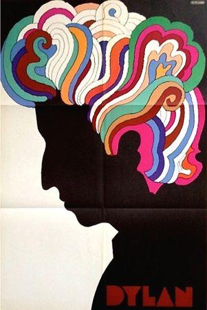 Lithographie Glaser - Bob Dylan