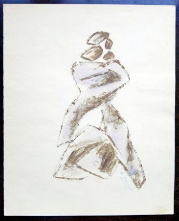 Aucune Technique Àngel - Boceto escultura - Original Drawing - Signed