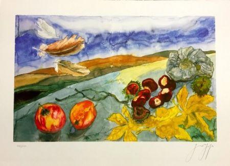 Lithographie Grass - Bodegón otoñal