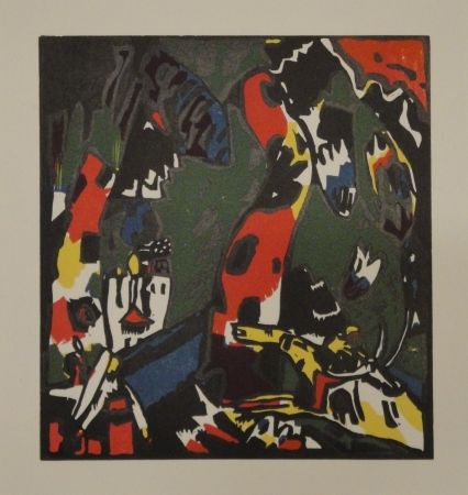 Gravure Sur Bois Kandinsky - Bogenschütze.